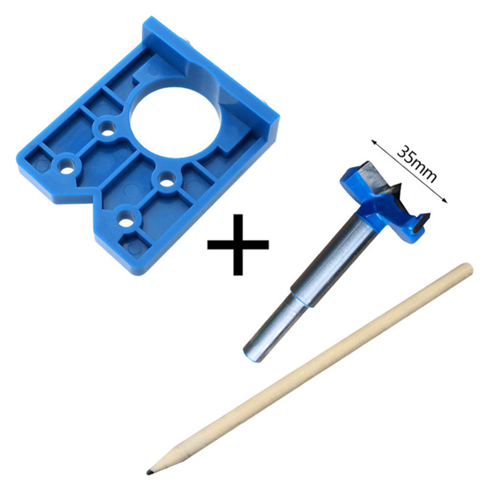 35mm Hinge Jig ABS Plastic Hinge Installation Wood Drill Guide Hinge Hole Boring Furniture Door Cabinet Tool For Carpentry