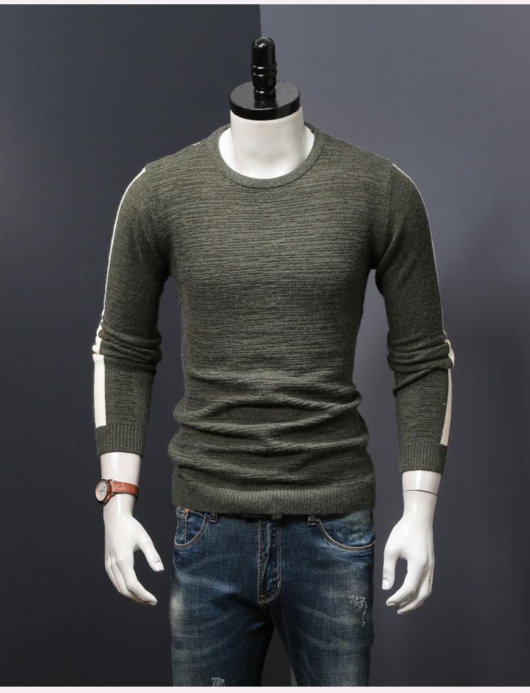 Мужской зимний свитер вязаный пуловер Свитера Осень и весна тонкие мужские топы tide man Одежда