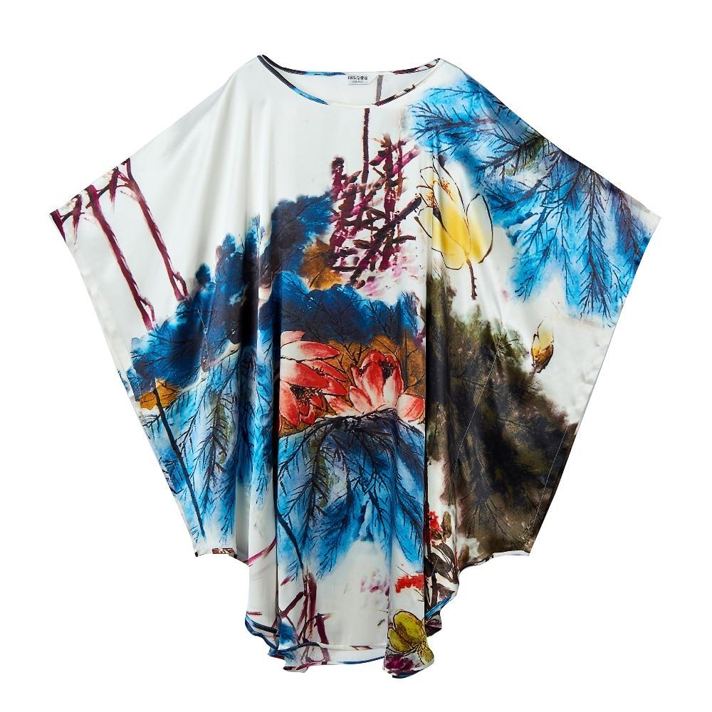 100% Silk Satin Dress Natural Mulberry Silk Floral Printed Women Summer Dresses Chinese Silk Supplier