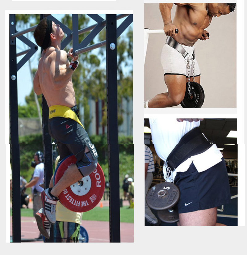Dip Belt Weight Lifting Waist Strength Trainer Power Building Dipping Chain Pull Up Back Support Belt