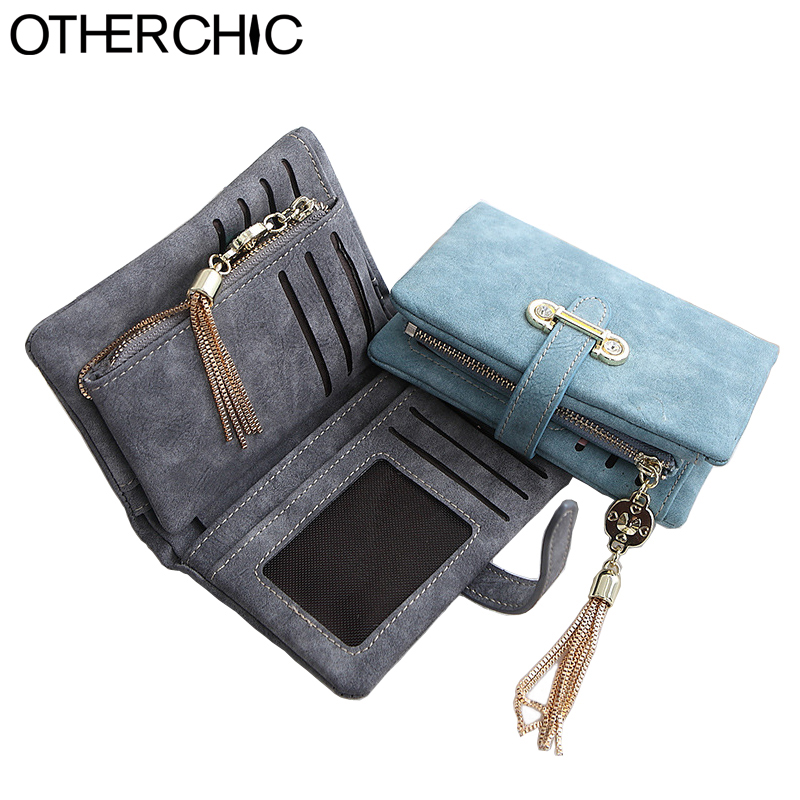 OTHERCHIC Small Wallet Casual Women Wallets Slim Wallet Coin Purse Portefeuille Card Holder Wallet For Women Purses 16Y04-20