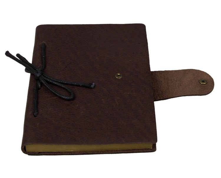 Caderno De Couro do vintage de Papel