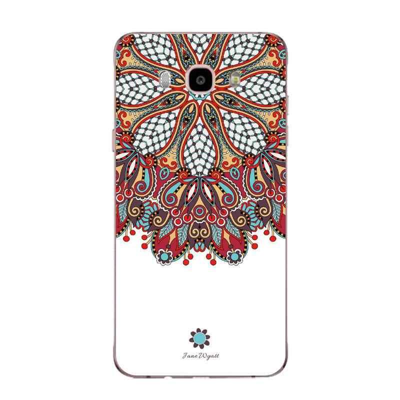 Mandala Doux TPU Téléphone étui pour samsung J3 J5 J7 S6 S7 S8 note8 A3 A5 C7 J2prime Fruits Flore Coquille Sac Couverture Livraison Gratuite