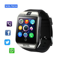 SCELTECH Smart Watch Q18 Passometer With Touch Screen Camera Support TF Card Bluetooth Smartwatch For Android