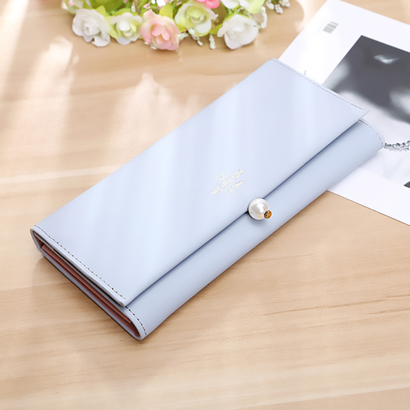 2018 Fashion Women Wallet Female Purse Fashion Pu Long Wallet New Pearl Pouch Purse Portefeuille Femme Carteira Feminina 2018 women wallet female purse long horn deer iron side wallet carteira feminina purse female portefeuille femme wallet