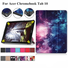 Case for Acer Chromebook Tab 10 9.7inch Tablet Cover Funda PU Leather Folding Flip Stand Shell