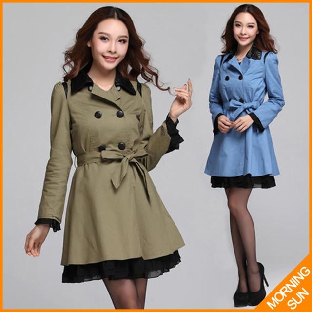 Gola de pele trespassado lace hem magro colete cintura lace-up new 2017 mulheres outono casaco casual windbreaker windcheater #290