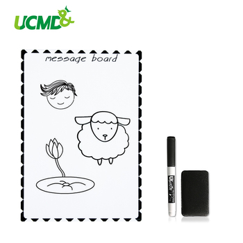 A5 Magnetic Whiteboard Kids Writing Drawing Message Board with Pens Eraseable Fridge Magnets for Home Office School Wall Sticker 4pcs lot flexible fridge magnets whiteboard kids reusable drawing writing message board note pad refrigerator magnetic sticker