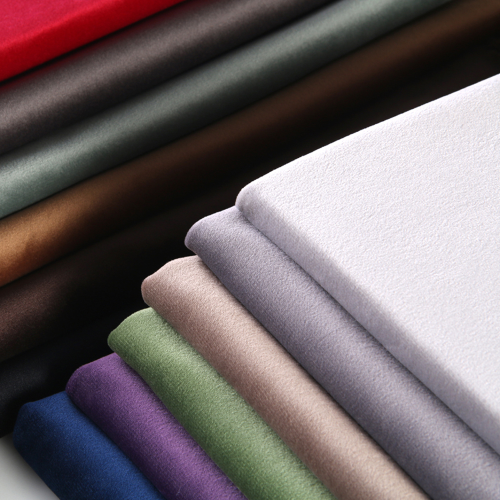 ESSIE HOME 280cm Cotton Velvet Fabric Velour Fabric Pleuche Fabric Bordduk Polstring Curtain Fabric Tender Pastel Color