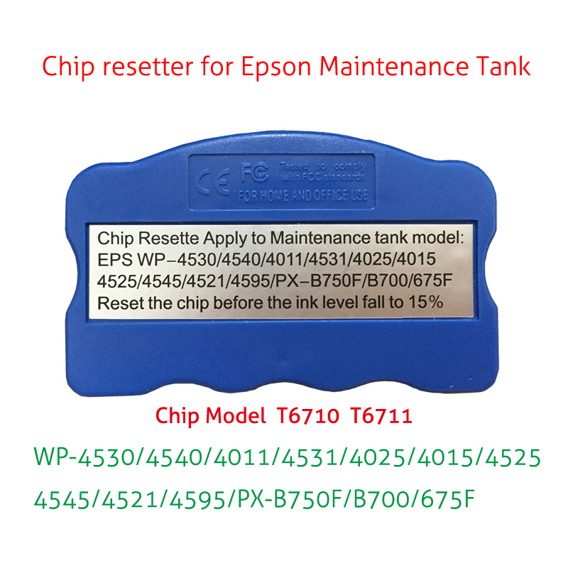 T6711 T6710 maintenance tank chip resetter for Epson WF-3010DW 3520DWF 3530DTWF 3540DTWF 3620DWF 7110DTW 7610DWF 7620DTWF chip resetter for epson 7700 9700 maintenance tank