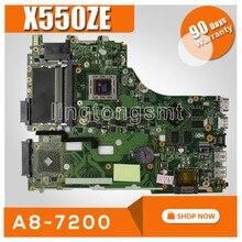 X550ZE Scheda Madre A8 7200 Per For Asus X550Z X550 K550Z VM590Z A555Z K555Z X555Z Scheda Madre del computer portatile X550ZE Scheda Madre di prova OK