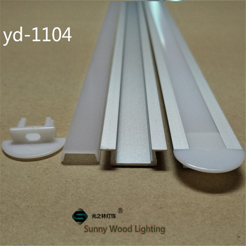 10-40pcs/lot 20-80m led aluminium profile for 11mm PCB board ,embedded led bar light housing, led tape light channel 1104-2m 5 15 pcs lot 1m aluminum profile for led strip milky transparent cover for 12mm pcb with fittings embedded led bar light