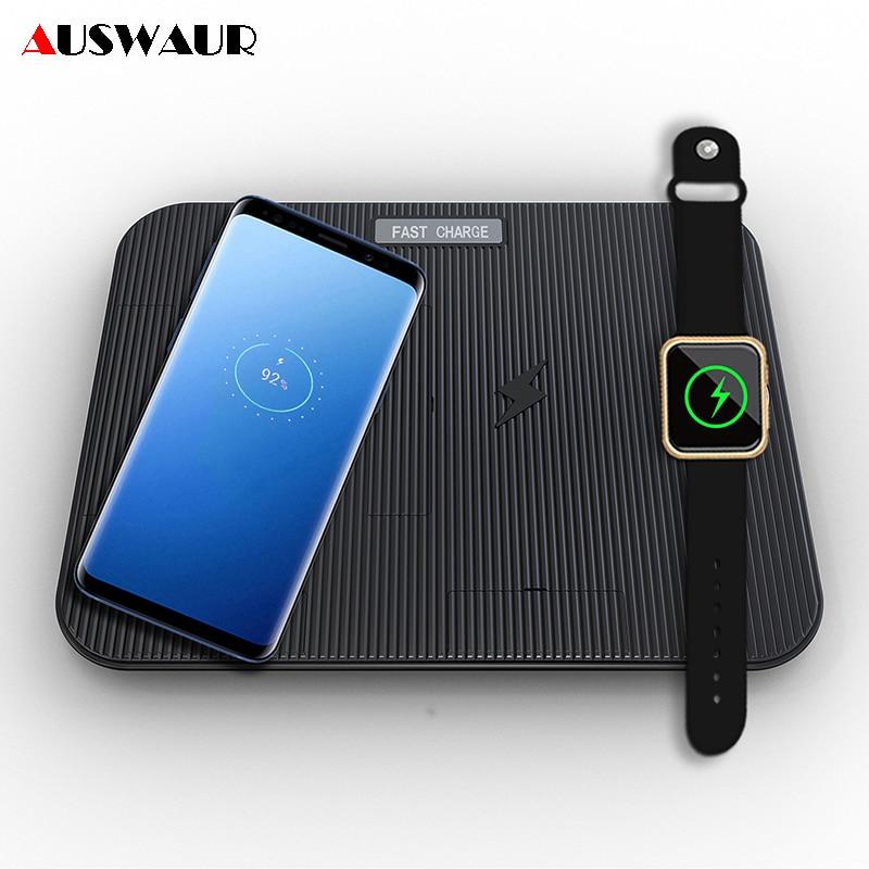 3 dans 1 QI Rapide Sans Fil Chargeur pour iPhone 8 Plus X XR XS MAX Rapide De Charge Sans Fil Chargeur pour apple Montre iWatch 1 2 3 4
