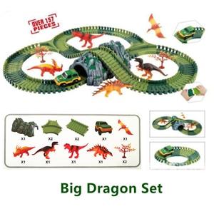 Image 4 - Assemblare FAI DA TE ferroviaria strada pista flessibile giocattoli ferrovia flex race tracks set 96/144/192/240PCS vagoni ferroviari giocattoli regalo per i bambini