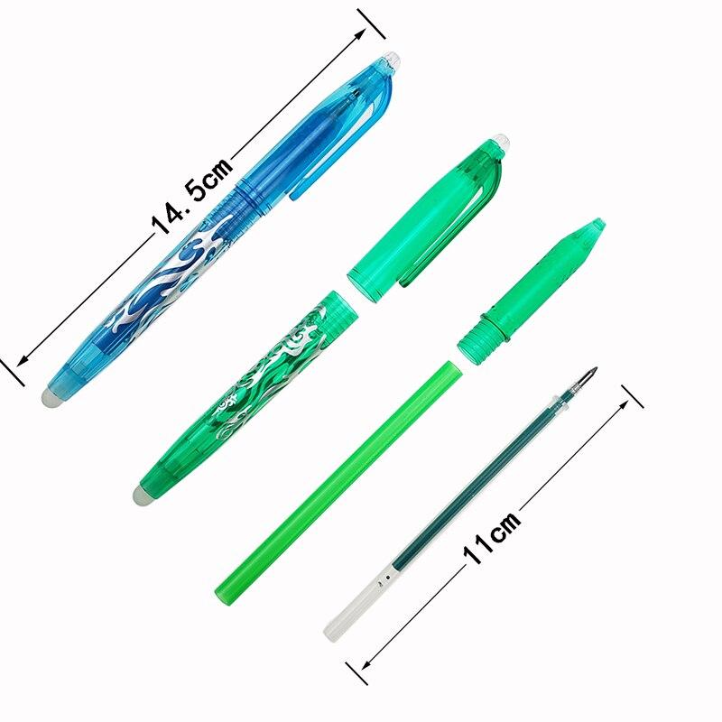 1Pc New 0.5mm Erasable Pen 1 pcs Refills Colorful set 8 kinds of styles Rainbow Erasable pen Best-selling Gel pen 3