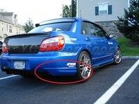 Acessórios do carro de fibra de carbono/fibra de vidro traseiro spats para o 2004-2007 wrx 8-9th estilo jdm oem amortecedor traseiro tampas de canto extensão