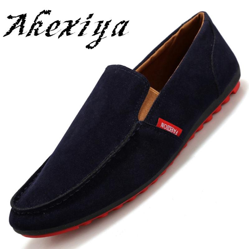 Akexiya marcas venta caliente rebaño de cuero hombres zapatos cómodos ocasionale