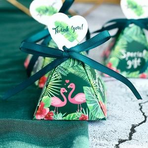 Image 2 - صندوق حلوى على شكل طائر الفلامنغو 100 قطعة هدية لحفلات الزفاف والذكرى السنوية للخطوبة وحفلات عيد الميلاد وحفلات الزفاف