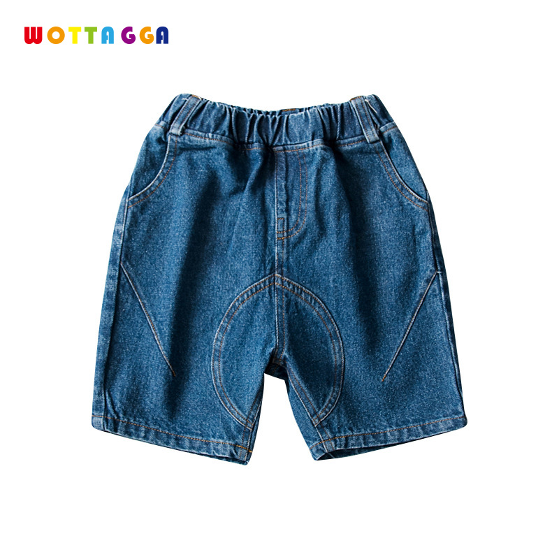 WOTTAGGA 2019 Summer Solid Color Linen Pleated Children Ankle length Pants for Baby Boys Pants Pockets for Kids Child