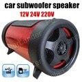 Envío libre Super Bass Mini Altavoz Del Coche Subwoofer Altavoz Portátil altavoz para todos los coches 4 pulgadas 12 V 3 colores para opción