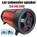 free shipping Super Bass Speaker Mini Subwoofer Car Speaker Portable Speaker for all cars 4 inch 12V 3 colors for option