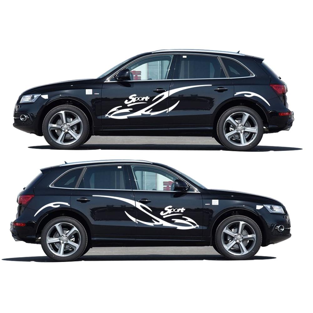 For audi q5 car styling accessories waterproof car whole body sticker sedan vehicle sticker 2pcs