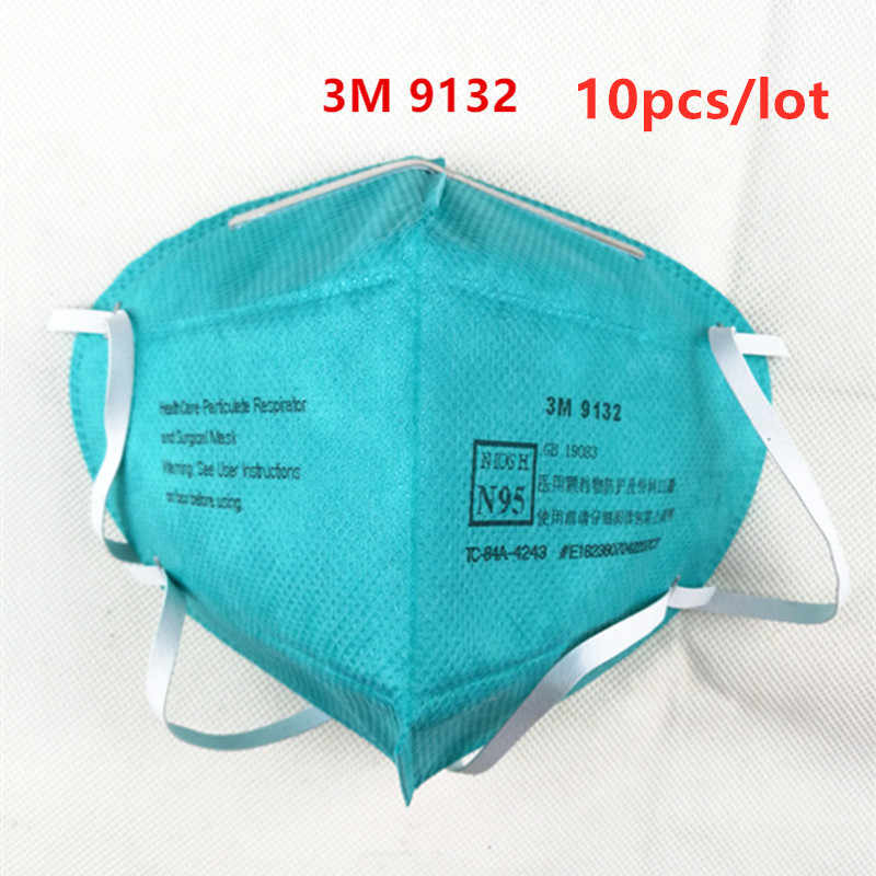 Particulate And lot 10pcs Health 9132 Respirator 3m Surgical Are