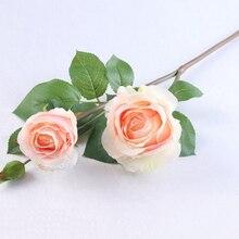 Высококачественное моделирование искусственная Цветочная подделка букет роз Home вечерние праздничное свадебное украшение VE