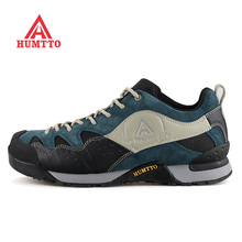 New Arrivals Men's Leather + Fabric Outdoor Hiking Trekking Shoes Sneakers For Men Sport Climbing Mountain Shoes Man