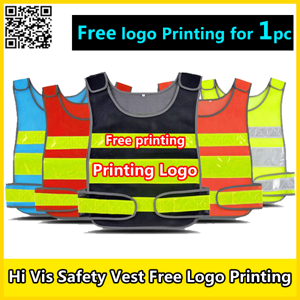 SPARDWEAR Safety vest free logo printing reflective security vest black seguridad vest security guard working clothing