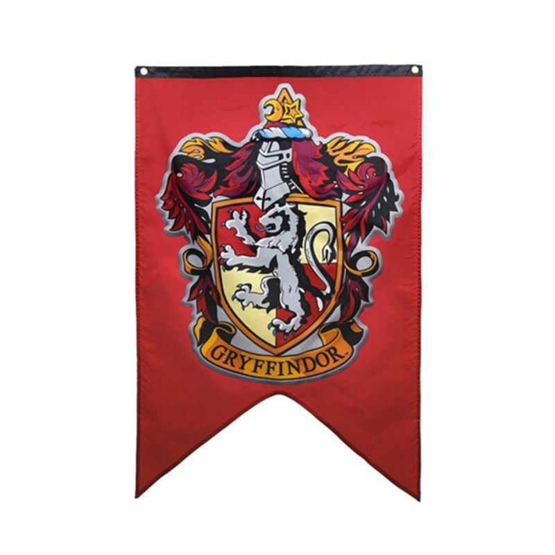 New College Harri Potte Flag Banners Gryffindor Slytherin Hufflerpuff Ravenclaw Boys Kids Decor Christmas Party Supplies