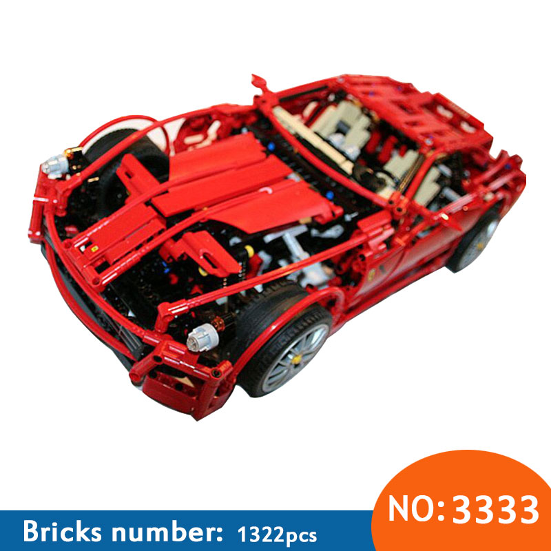 DECOOL 3333 1322pcs Large 1:10 F1 racing model block bricks building blocks educational children toys compatible 8145 in stock dhl decool 3333 building blocks toy 1 10 car model supercar red assemblage racing brain game gift clone 8145