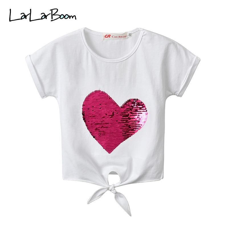 LarLarBoom/Детские топы летняя одежда с короткими рукавами для маленьких девочек