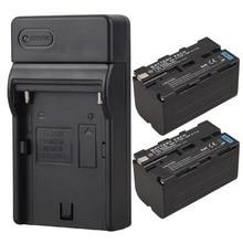 2×5200 mAh NP-F770 NP-F750 NP F750 F770 NP Substituição Câmera Digital Bateria + Carregador USB para Sony NP-F750 Bateria NP-F770