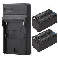 2x 5200mAh NP F750 NP F770 NP F750 NP F770 Replacement Digital Camera Battery USB Charger