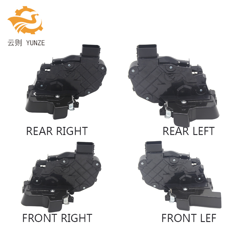 4 SIDES FRONT REAR LEFT RIGHT DOOR LATCH MECHANISM LOCK ACTUATOR FOR LAND ROVER RANGE SPORT EVOQUE lr011303 new rear left car door latch for evoque freelander 2 discovery 3 4 range rover sport 05 09 10 auto door parts supplier
