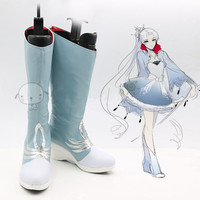 New RWBY Boots Custom Made RWBY Weiss Schnee Cosplay Boots Women Halloween Carnival Party Cosplay Shoes