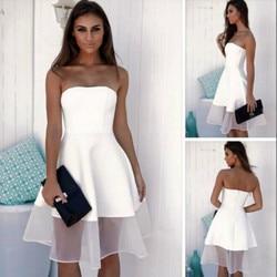 MUXU biała sukienka vestidos sexy kleider moda kobieta odzież party patchwork ropa mujer szata femme długa sukienka bez pleców sukienka 2