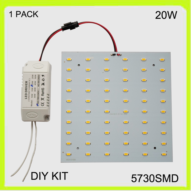 2 year warranty surface mounted 20W LED plate LED ceiling light led panel 15*15cm 220V 230V 240V 2100lm Cool white warm white