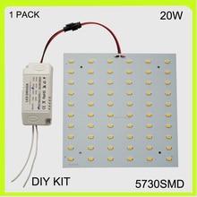 2 year warranty surface mounted 20W LED plate LED ceiling light led panel 15*15cm 220V 230V 240V 2100lm Cool white warm white
