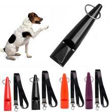 Профессиональные ультразвуковые высокие частоты собаки свисток обучение с шнурком легко носить с собой для щенка