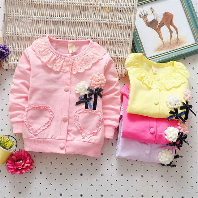 BibiCola baby girls new spring coat baby girls sport outerwear clothes lace cardigan outfit casual jacket clothing fashion coat