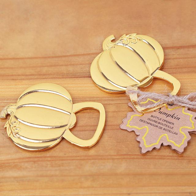Free shipping12pcslotgolden wedding favors gold pumpkin wine free shipping12pcslotgolden wedding favors gold pumpkin wine bottle opener junglespirit Images