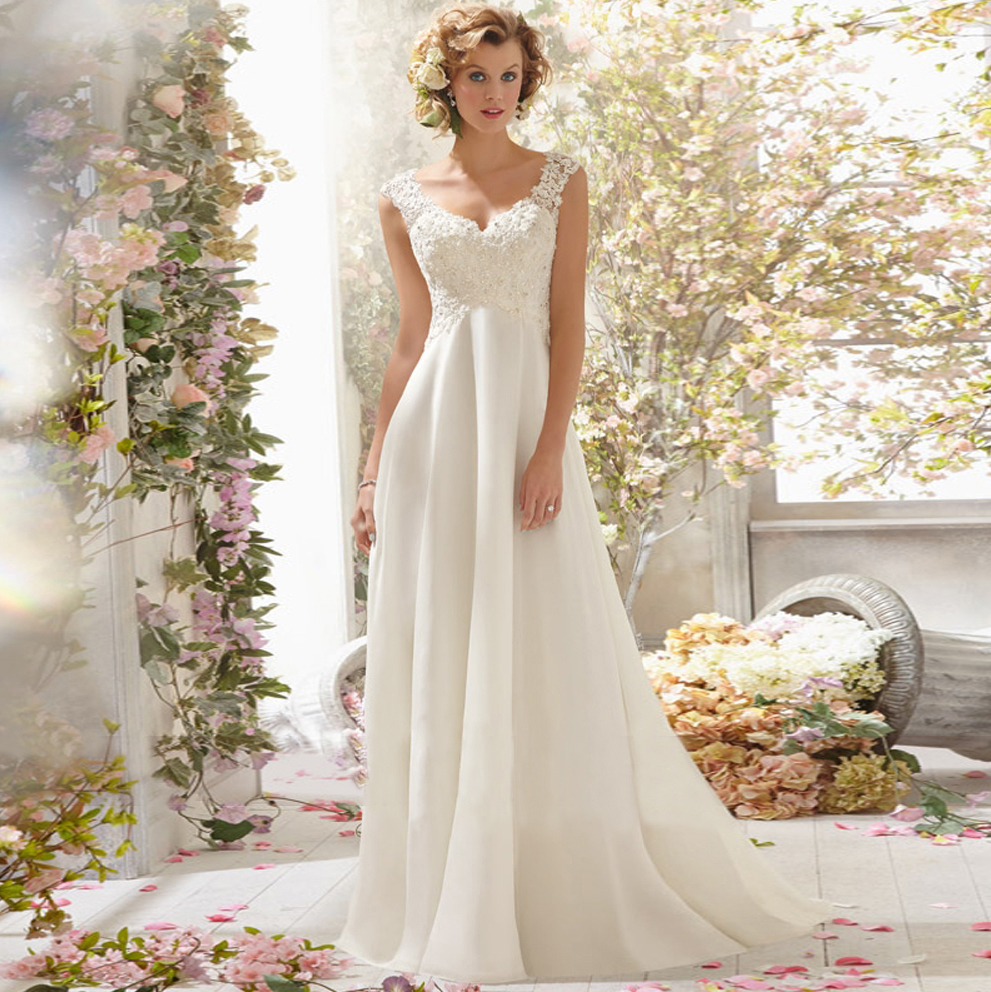 2017 new stock plus size women pregnant bridal gown wedding dress ...