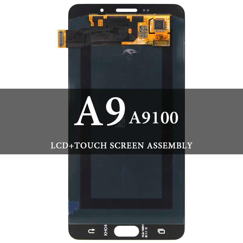Grade LCD Display For Samsung A9 2016 A910 LCD Super AMOLED With Digitizer Touch Assembly 6 Inch For Samsung A9 2016 A910 ScreenGrade LCD Display For Samsung A9 2016 A910 LCD Super AMOLED With Digitizer Touch Assembly 6 Inch For Samsung A9 2016 A910 Screen