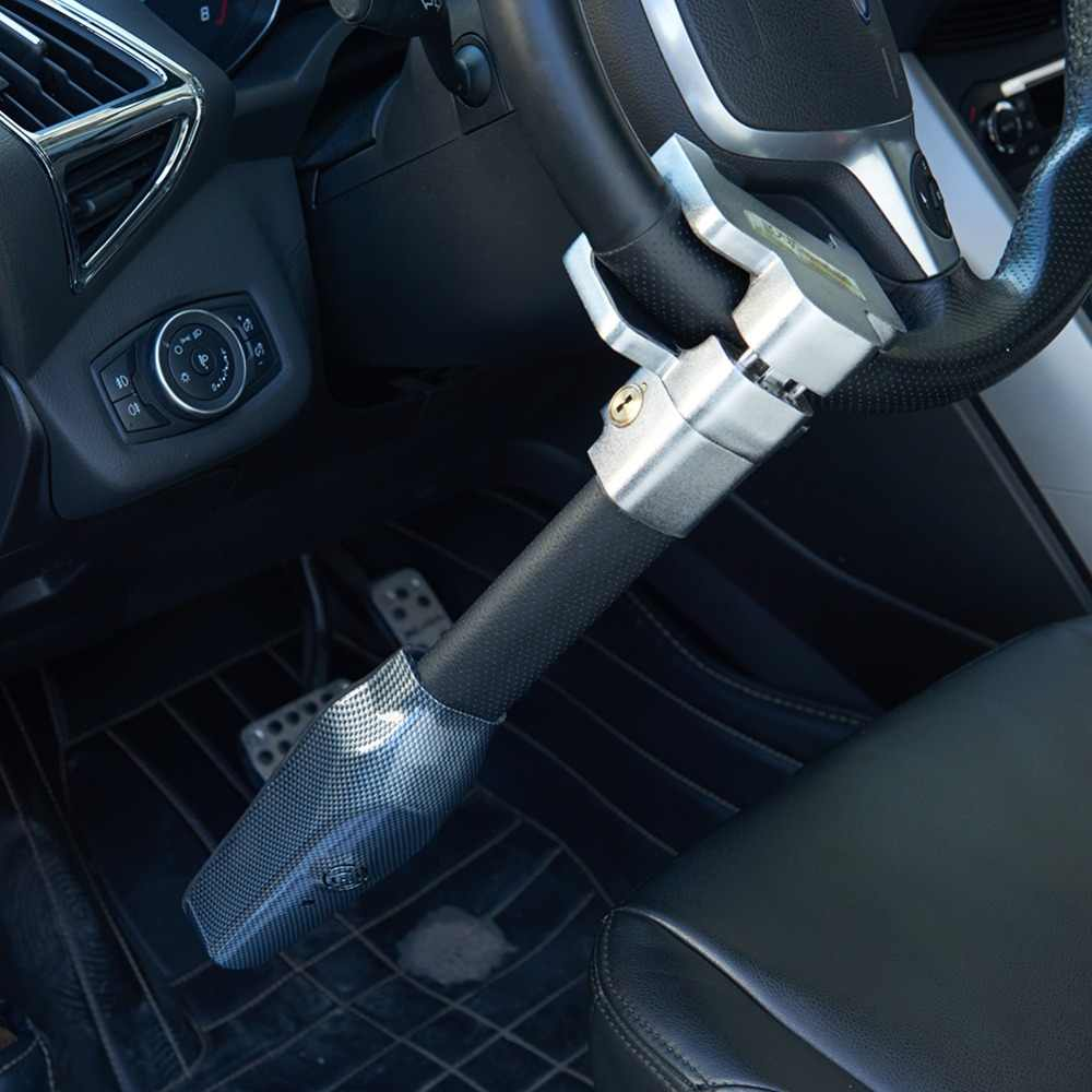 Car Anti Theft >> Car Steering Wheel Lock Universal Security Car Anti Theft Safety Alarm Lock Retractable Anti Theft Protection T Locks