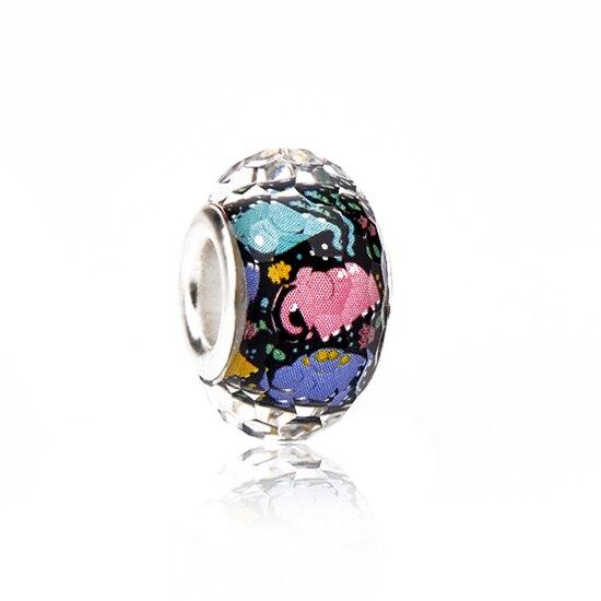Maxi Glass Animal Elephant Beads Charms Fit Pandora Bracelets Necklaces for Women Hot Sale DIY Party Femme Bijuterias Collier