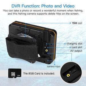 Image 2 - Cámara de vídeo de pesca submarina Eyoyo EF15R 1000tvl 15M 4 Uds infrarrojos + 2 uds cámara de vídeo submarino LED blanco para pesca en hielo
