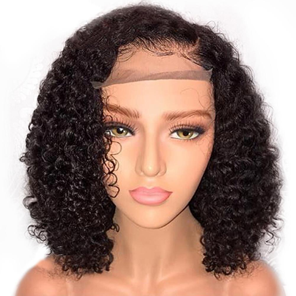 Fashion Front Lace Black Fully Curly Short Wig Women Cosplay Party Hairpiece Fashion Front Lace Black Fully Curly Short Wig Women Cosplay Party Hairpiece