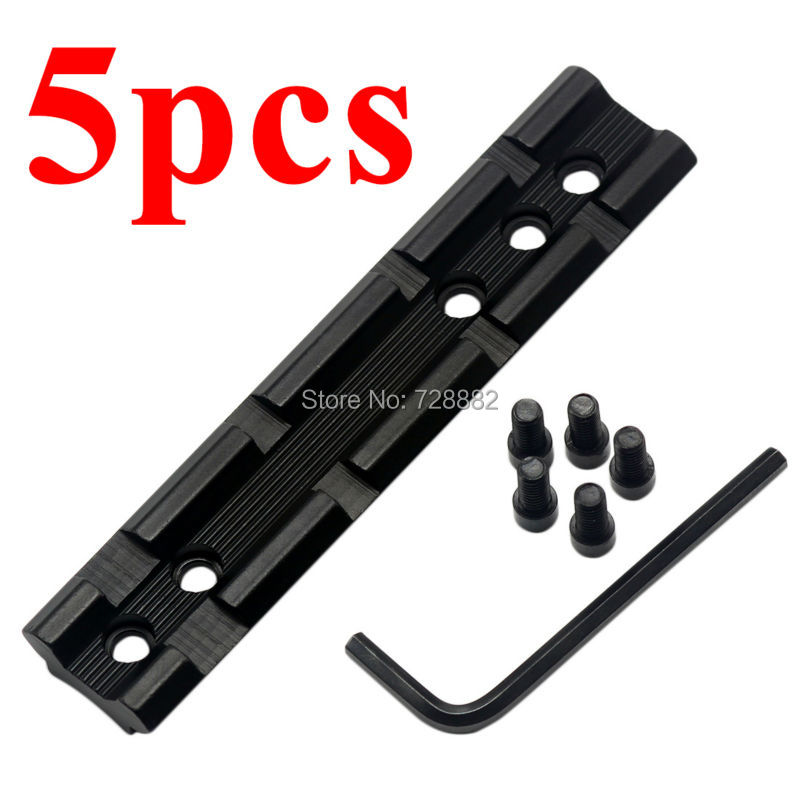 M-LOK Slot de section de rail jeu de rails à segment Picatinny//Weaver en métal